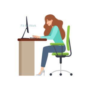 Proper posture at desk